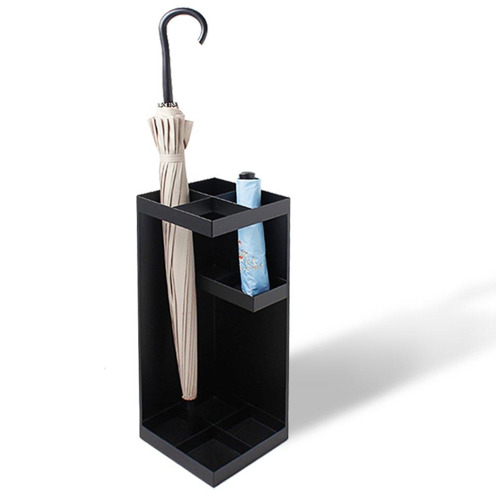 Black 20x20x50cm(8x8x20) Hotel Umbrella Stand Iron Short Long Free Standing Metal Umbrella Holder Umbrella Rack Layer Metal European Style Office Hallway-Black 20x20x50cm(8x8x20)