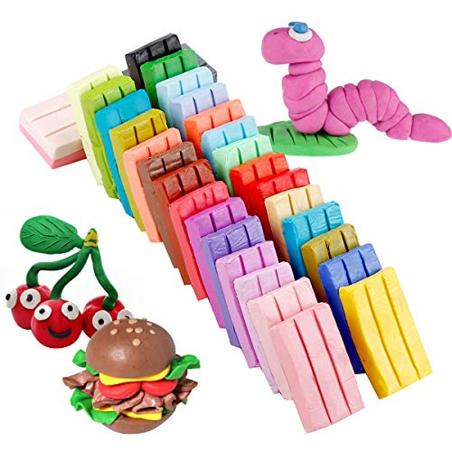 32 Colors Polymer Clay Starter Kit - QMayer Oven Bake Clay 0.7oz/Block Soft Modeling Clay Non-Toxic DIY Craft Clay with Sculpting Tools for Boys Girls, Kids Easter Gifts (1.94LB)
