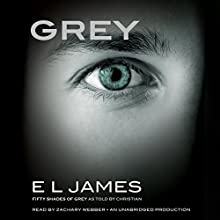 Grey: Fifty Shades of Grey as Told by Christian Audiobook by E. L. James Narrated by Zachary Webber