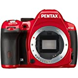 Pentax K-50 16MP Digital SLR Camera with 3-Inch LCD - Body Only (Red)