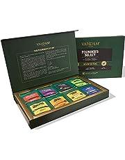 VAHDAM, Assorted Tea Bag Sampler - 8 Tea Flavors, 40 Tea Bags Gift Set | OPRAH's FAVORITE TEA | Black Tea, Green Tea, Oolong Tea, Chai Tea, Herbal Tea | Best Selling Tea Gift Set & Tea Gift Box