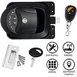 SAFETYON Keyless Lock Trailer Door Lock with Car Alarms Remote Control Central Kit Door Lock Latch Handle Knob Deadbolt Camper Trailer
