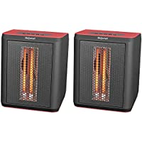 LifeSmart 3 Element Infrared Electric Portable Desktop Heater & Fan (Pair)