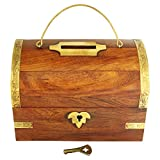 ITOS365 Handicrafted Wooden Money Bank - Large