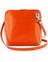Ann Tarry Color Splash Collection Genuine Leather Shoulder Crossbody Bag Made in Italy