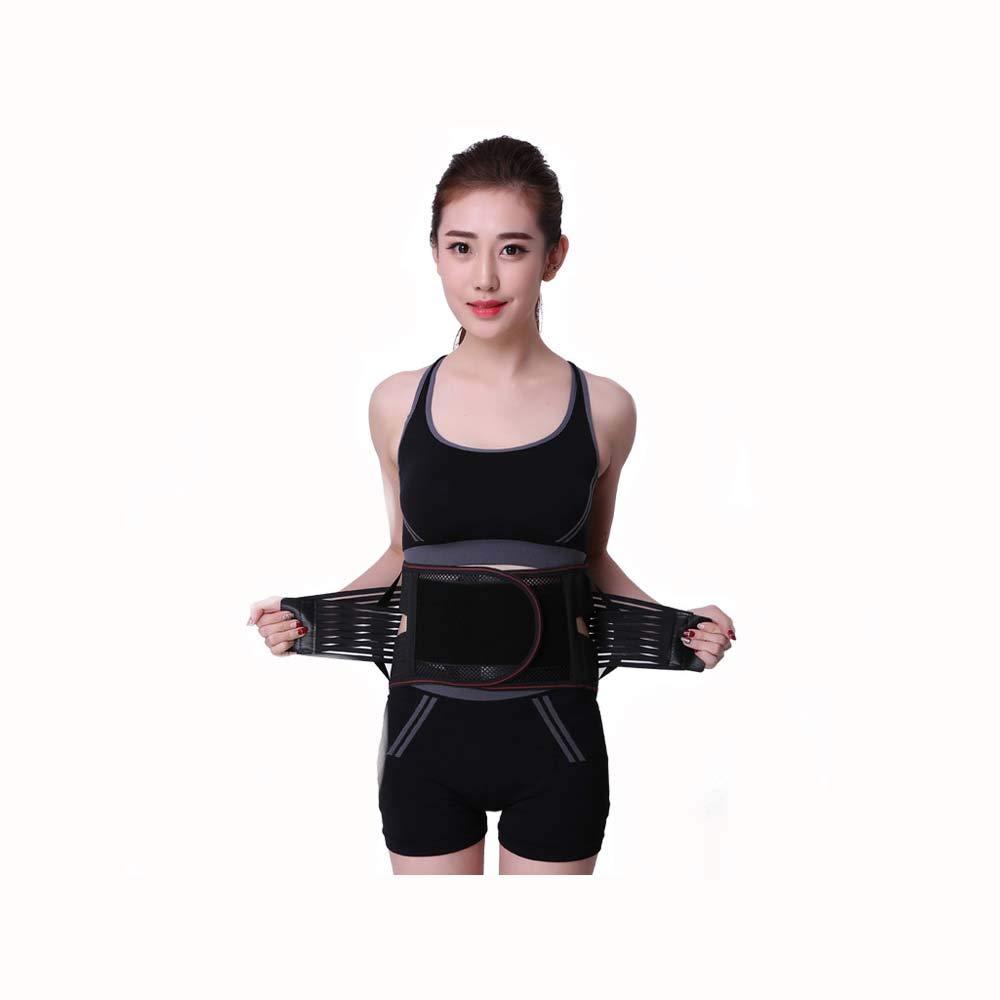 HUIFANG Schwarzer Ultradünner Atmungsaktiver Sportgürtel Für Männer Und Frauen, Der Den Gürtel Für Das Training Unterstützt
