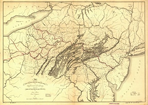 1847 Map Great Western & Lake Erie railroad of PA of the proposed Great - Pa Erie Shopping In