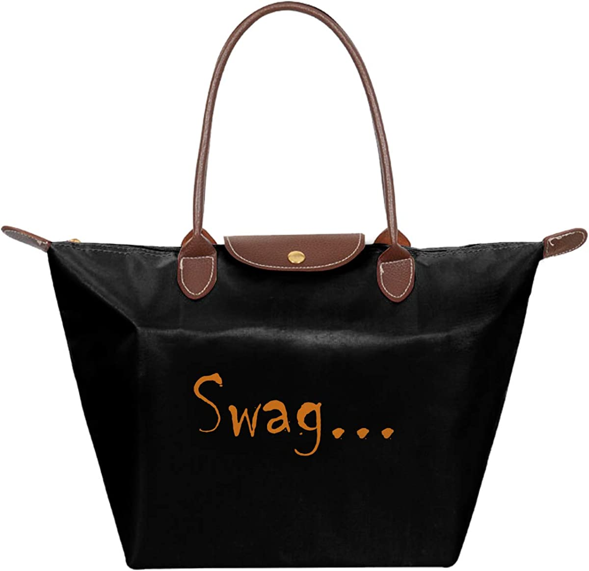 Swag PU Folding Dumpling Bag Tote Bag Large Women Casual Shoulder Bag Handbag
