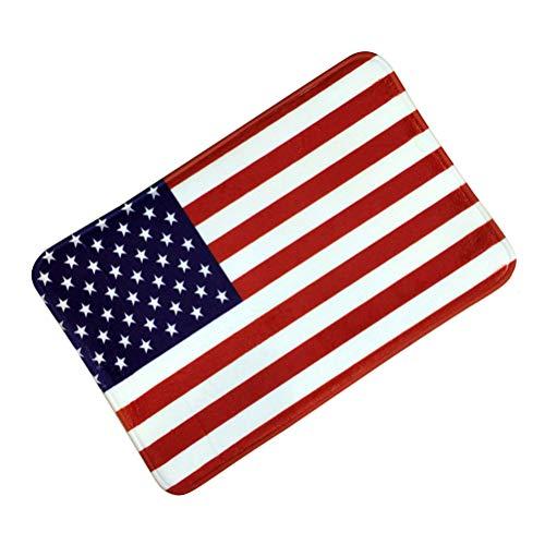 BESTOYARD American Flag Non-Slip Doormat Rugs Floor mat Bedroom mats Water-Absorbing Carpet Decor for Bathroom Kitchen 38x58cm