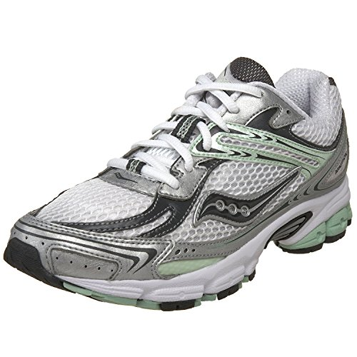 Saucony Women's Grid Ignition 2 Running Shoe, multicouleur - White/Grey/Green, 44 B(M) EU/9 B(M) UK