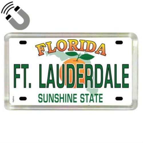 Ft. Lauderdale Florida License Plate Acrylic Small Fridge Collector's Souvenir Magnet 2