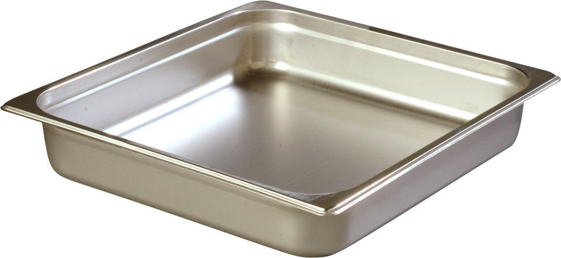 Carlisle 607232 Stainless Steel 18-8 DuraPan Light Gauge 2/3 Size Anti-Jam Food Pan, 6 quart Capacity, 2.5'' x 12.75'' x 13.88'' (Case of 6)