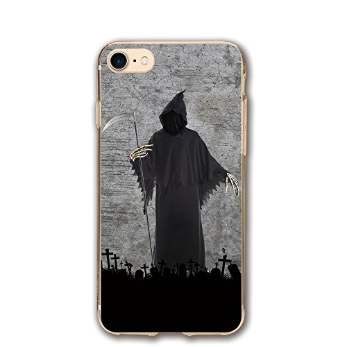 Price comparison product image Benson Design Name Apple IPhone 7 / DIY Custom / Shell And Screen Protector Personalized Grave Death Sickle