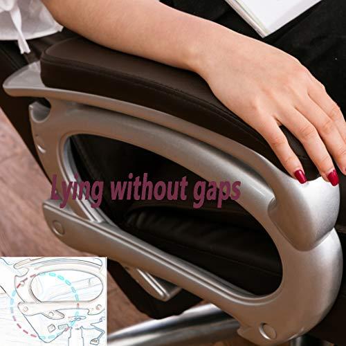 Kontorsstol, hög rygg med fotstöd, komfort verkställande svängbar stol, 360 graders brun svängbar, justerbar höjd