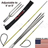 Scuba Choice Spearfishing Travel Pole Spear Hawaiian Sling with 3 Prong & Lionfish Tips Set