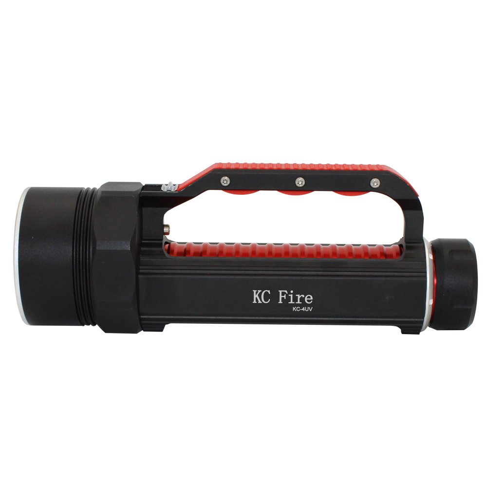 Professional Diving Flashlight Blacklight , KC Fire Ultra Bright 4000 Lumen Underwater 100 Meter, 395nm UV Ultraviolet Light, Batteries and Charger Included by KC Fire (Image #4)