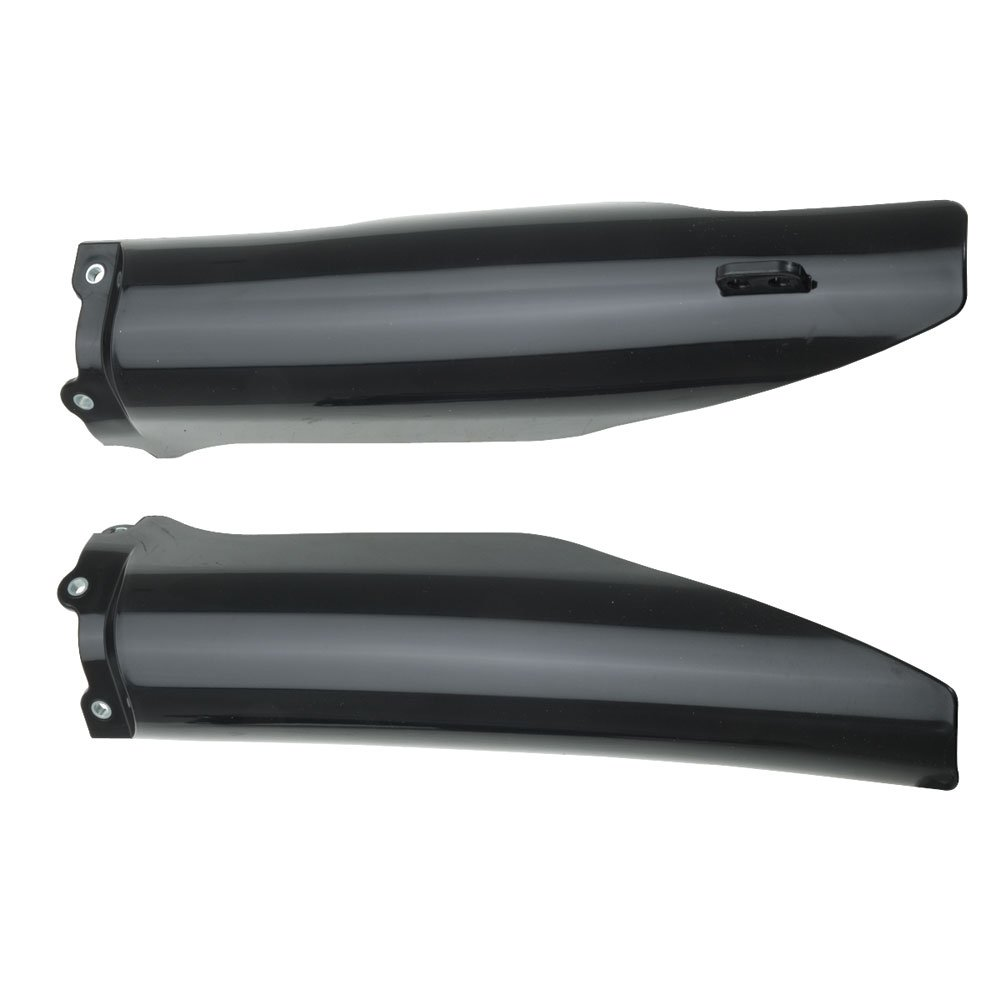 Acerbis Lower Fork Cover Set Black - Fits: Kawasaki KX250F 2004-2005