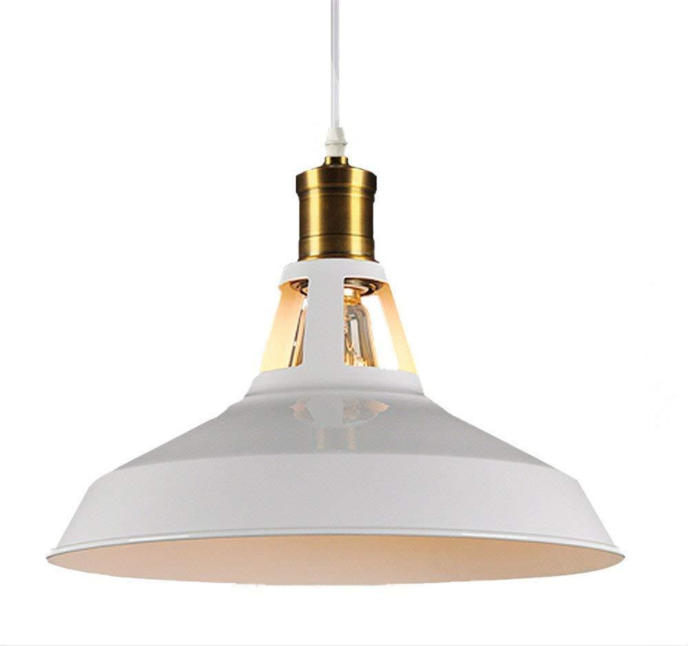 HBLJ Vintage Retro Lampe Lampe Lampe Pendelleuchten Pendelleuchten für industrielle Windeisen Lounge Restaurant Bar Esszimmer der Originalkunst mit einem Weißhead-Kronleuchter, 390 mm (Farbe  310mm) 73fa90