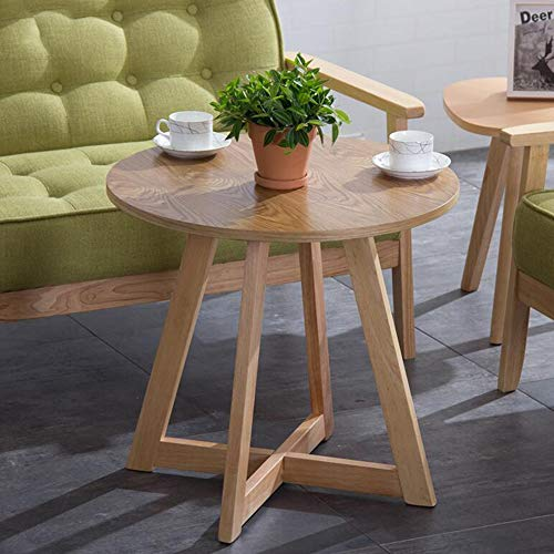 - Tables Side Table Modern Nightstand Round End Accent Coffee Table Living Room Bedroom Balcony CJC (Color : Wood Color)