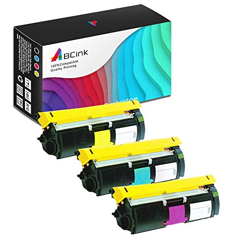 - ABCink Compatible Toner Cartridge Replacements for Konica-Minolta 1710587-007 1710587-006 1710587-005,for use in Konica-Minolta 2400 2400w 2430dl 2450 2480,3 Pack(Cyan,Yellow,Magenta)