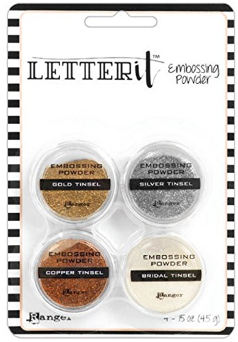 Tinsels Embossing Powder (Ranger Letter It Embossing Powder Set Of 4 - Tinsels)