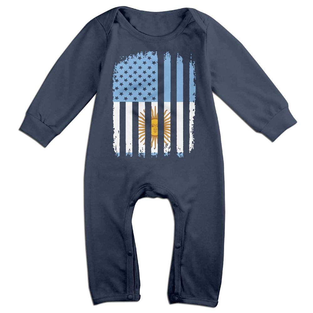 Mri-le1 Baby Boy Girl Long Sleeve Jumpsuit Argentina American Flag Baby Clothes