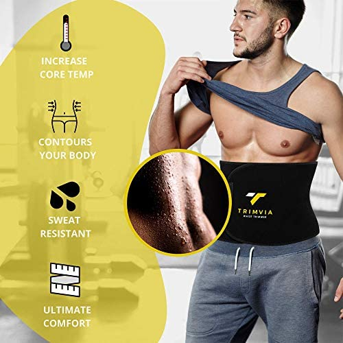 TRIMVIA Waist Trimmer for Women and Men, Sweat Band Waist Trainer, Waist Shaper, Waist Cincher 4