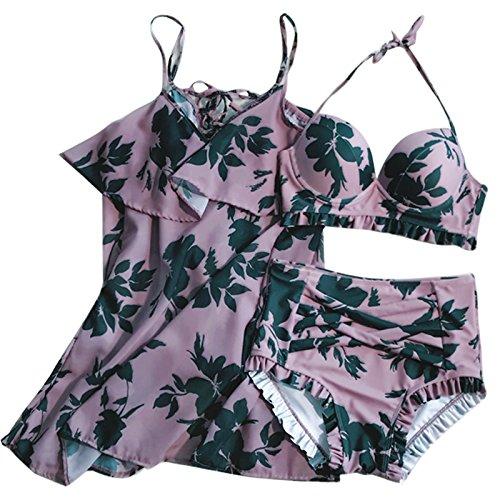 33716c5a81 L'Ombrage egrave;ces Style Recueillir Spring Bain De Petite Trois Hot XIAOHUAHUA  Femme Maillot Bikini Pi Maillot De Poitrine ...
