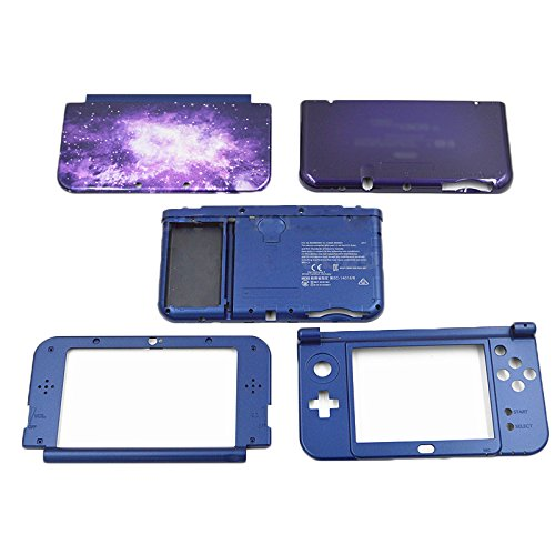 Yuntown Main Engine Cover Case Hard Shell Replacement Repair Accessory 5in1 Set for Nintendo New3DSXL US Edition -Sky (Parts 3ds Replacement)