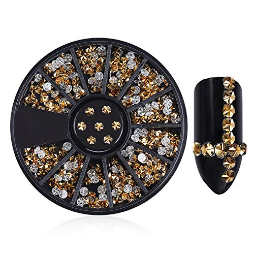- 3D Nail Art Rhinestones Glitters Studs Acrylic Tips Decoration Manicure Wheels (Pattern - #83)