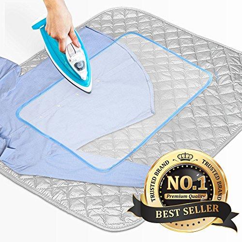 Eutuxia [UPGRADED] Large Premium Ironing Mat, Blanket. Perfect Iron Board Alternative. Washer, image
