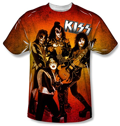 Youth: KISS - Fire Pose Kids T-Shirt Size YM