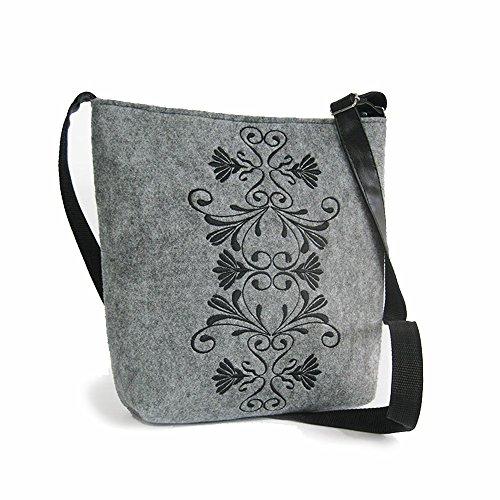 Big Felt Crossbody Shoulder Bag New Collection FLOWER