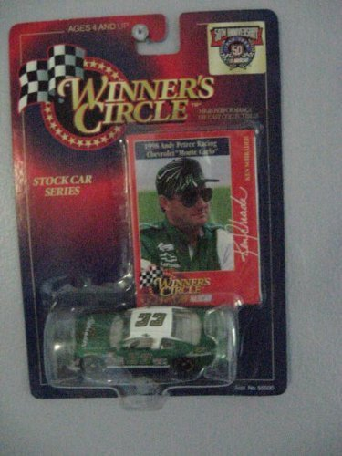 Winners Circle 1/64 scale Diecast with collectible card Stock Car Series 1998 Andy Petree racing Chevrolet Monte Carlo #33 Ken Schrader Nascar 50th Anniversary