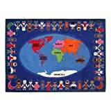 Sprogs SPG-FE616-32A-SO Kids Global Friends Rug (5' 10'' W x 8' 4'' L)