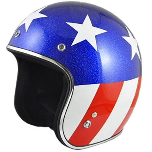 Origine O500 Jet 3/4 Open Face Motorcycle Helmet DOT Cafe Racer Retro Vintage (Gloss White/Captain)