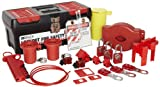 Brady Valve and Electrical Lockout Toolbox Kit, Includes 3 Safety Padlocks