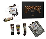 Carnivore Club Exotic Meat Gift Box – Jerky & Salami & Sausage Sampler - Comes in a Premium Gift Box - Exotic Jerky Gift - Great with Crackers & Cheese & Wine - Christmas Gift