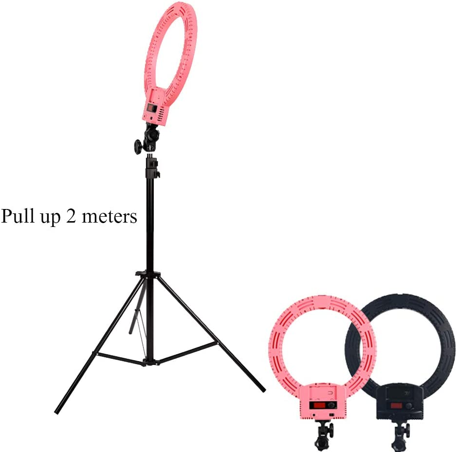 Ubeesize Mini Led Camera Ring Light for YouTube Video//Photography Compatible with iPhone Android JION 12 Self-Timer Ring Light with Tripod Stand and Mobile Phone Holder for Live//Makeup