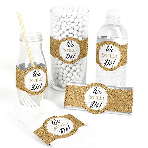 We Still Do - 50th Wedding Anniversary - DIY Party Supplies - Wedding Anniversary Party DIY Wrapper Favors & Decorations - Set of 15 ()