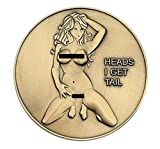 Nude Girl Heads and Tails Flipping Challenge CoinGive the gift of always WINNING! No matter how you flip this coin it's always a WIN-WIN outcome. This stylish antique bronze finished good luck charm challenge coin is sure to be the best gift ...