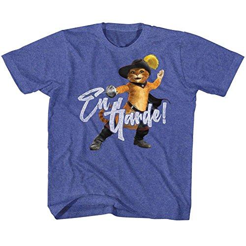 DressCode Shrek Unisex-Child En Guarde T-Shirt, Size: Small, Color: Navy Heather -