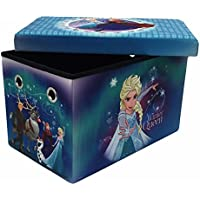 Disney Frozen 24 Multi-Functional Folding Storage Bench with 200 lb Weight Support Capacity