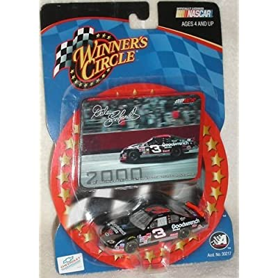 Dale Earnhardt Sr #3 Goodwrench Service Plus Monte Carlo Talladega No Bull Win 76th and Final Win of Earnhardt's Career 1/64 Scale Diecast With Photo Sticker Card Winners Circle: Toys & Games