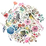 1000Art Nature Stickers Set(120 PCS) Watercolor Flowers Plant Stickers for Scrapbooking,Planners,Journals,Card Making,DIY Arts and Crafts
