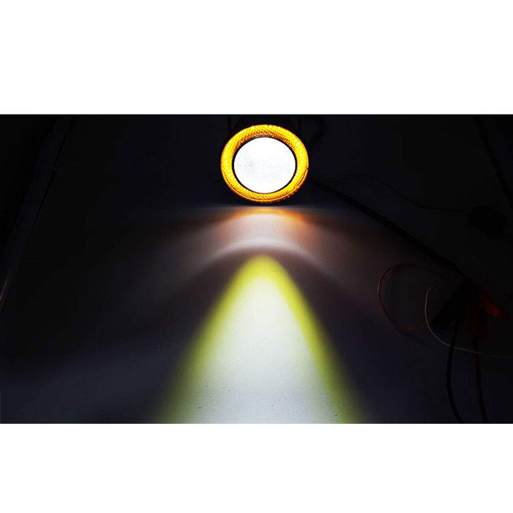 Zavarea Car Led Lens 30w Fog Lamp Universal Daytime Running Light With Cob Angel Eye Bulls Eye Fog Light Modified Fish Eye 3 Inch