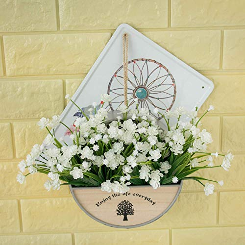 MARJON-Flowers4-pcs-Artificial-Flowers-Fake-Outdoor-Faux-Plants-Greenery-Daffodils-White-Shrubs-Plastic-Bushes-Indoor