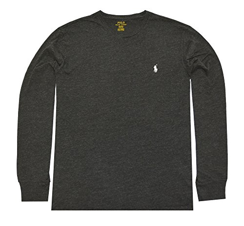 Polo Ralph Lauren Men's Long Sleeve Pony Logo T-Shirt - Large - Black - Polos Ralph Sale Lauren