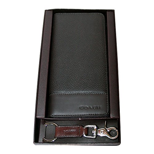 Coach F66073 Bifold Leather Dark Mahogany Wallet & Trigger Snap Key Gift Set by Coach