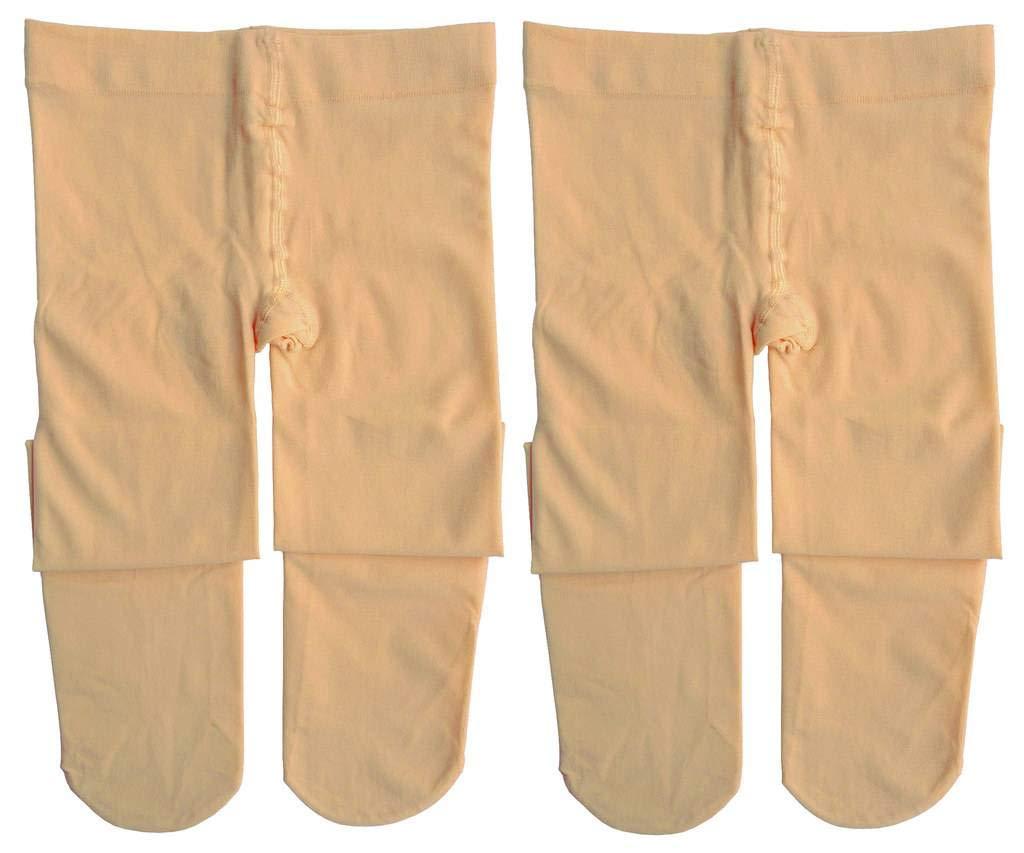 Dancina Dance Tights Little Girls Super Soft Everyday Wear Comfortable Stockings S (3-5) Suntan x2